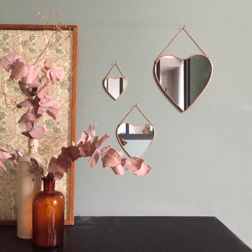 miroir-coeur-cuivre-Ensemble-S-M-L