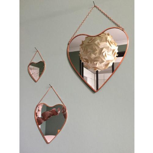 Miroir cuivre grand coeur atelier du petit parc for Theatre du petit miroir