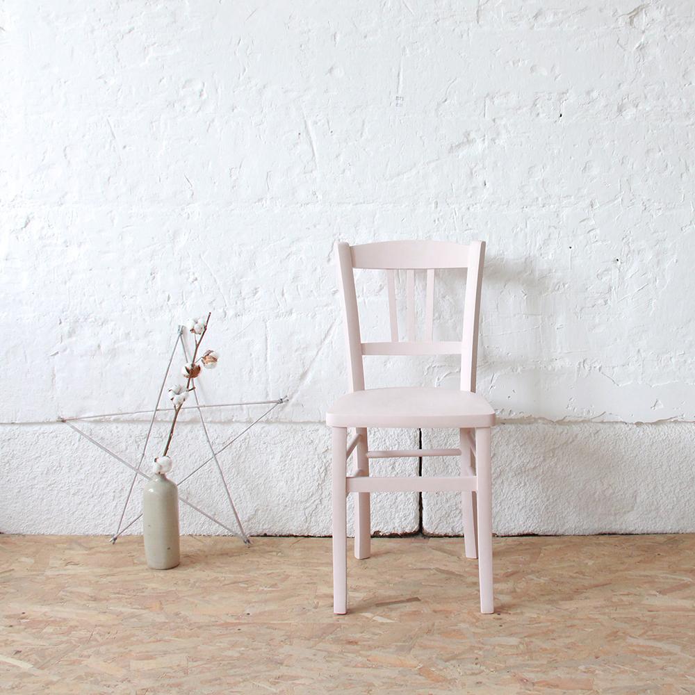 Chaise Bistrot Vintage Rose Atelier Du Petit Parc