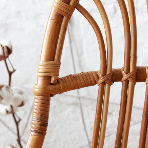 Fauteuil rotin coquille vintage atelier du petit parc - Fauteuil de bureau 150 kg ...