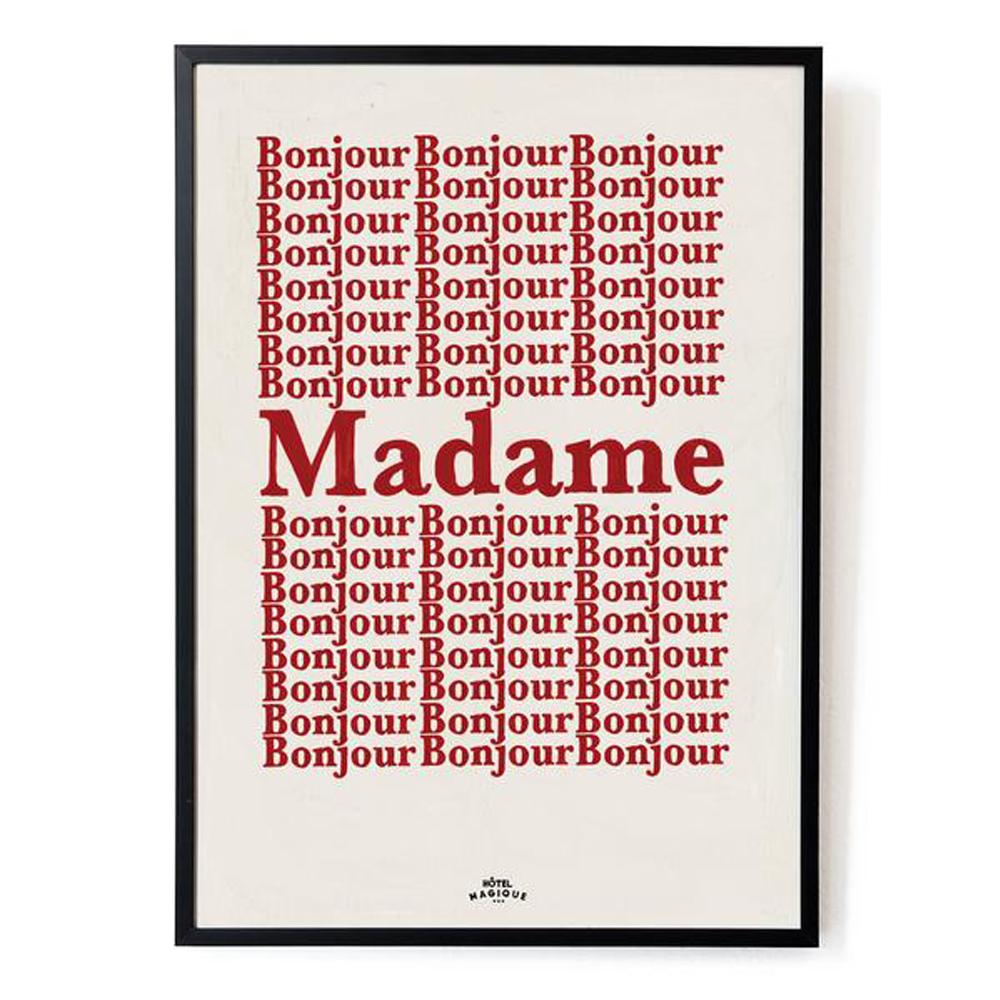 affiche hotel magique bonjour madame | atelier du petit parc