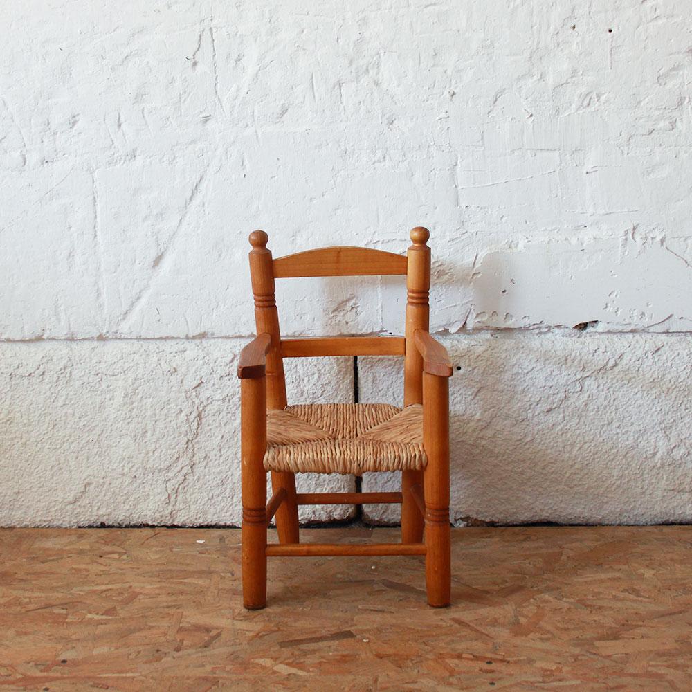 Fauteuil bois vintage - Enfant